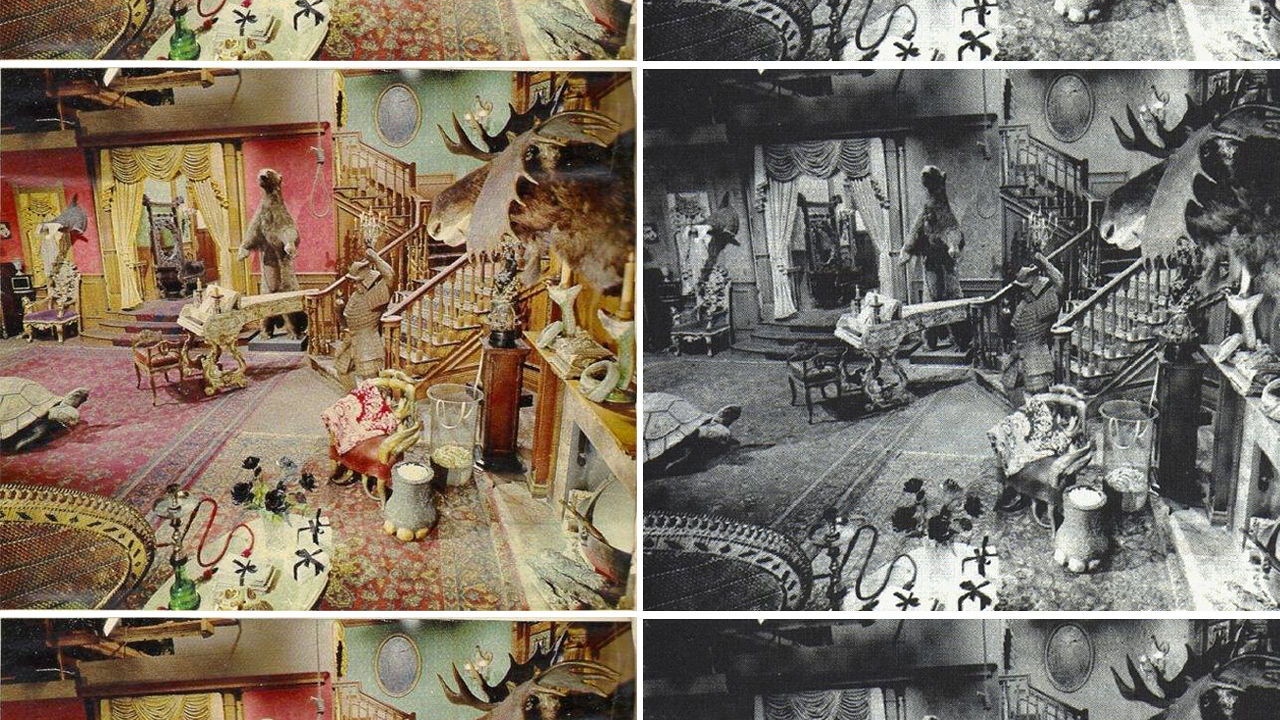 The addams family 39 s living room was pink co design for The addams family living room